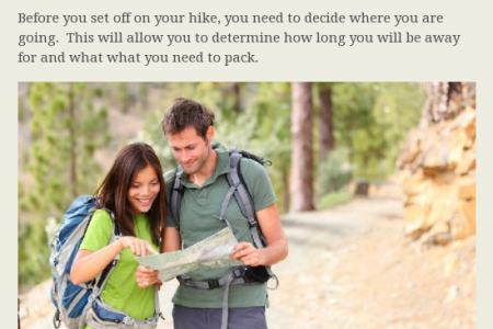 The Beginners Guide to Hiking Infographic