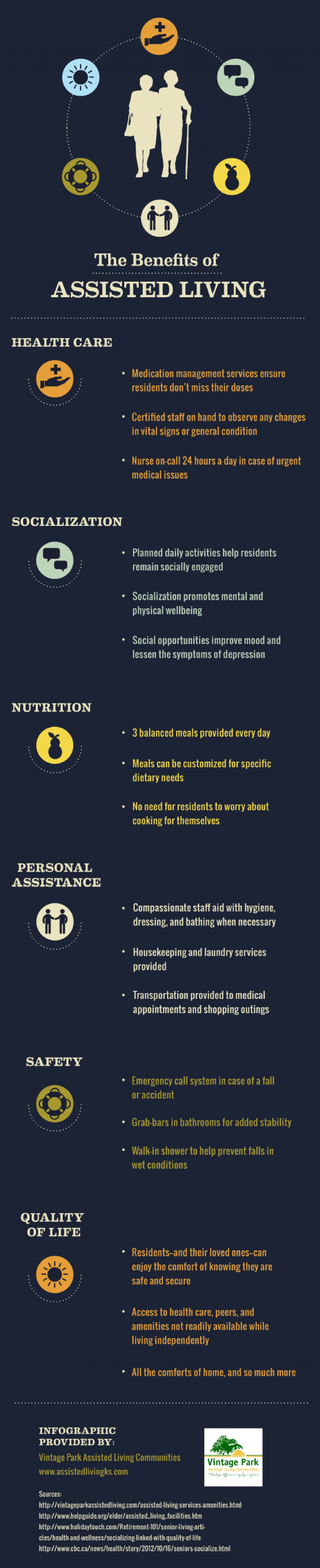 The Benefits of Assisted Living Infographic
