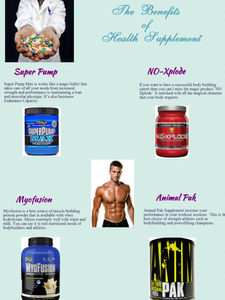 The Benefits of Health Supplement Infographic