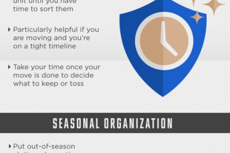THE BENEFITS OF USING A STORAGE UNIT  Infographic