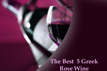 The Best 5 Greek Rose Wine Infographic