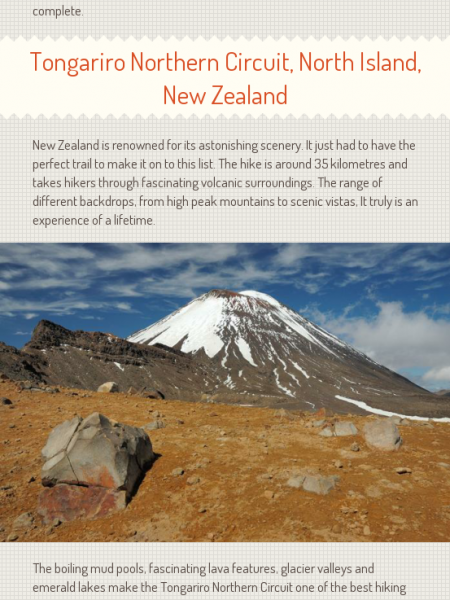 The Best Hiking Locations in the World Infographic