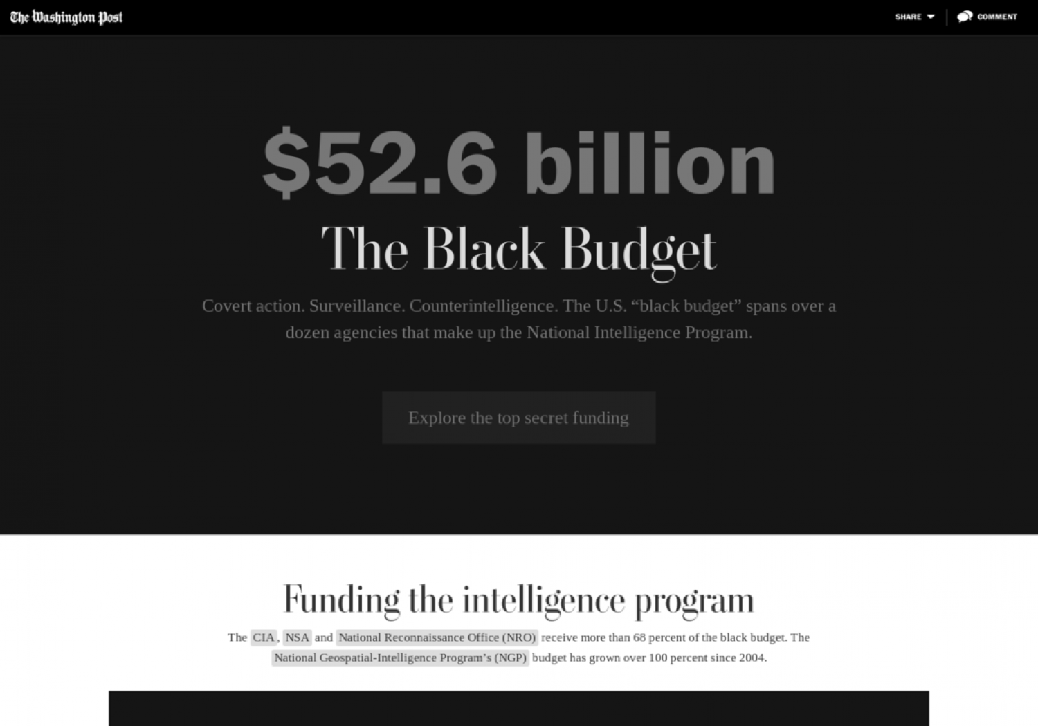 The Black Budget Infographic