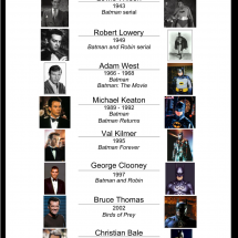 The Brief History of Batman Actors Infographic