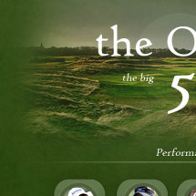The British Open - Top 5 Contenders Infographic