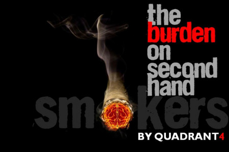 The burden on second hand smokers Infographic
