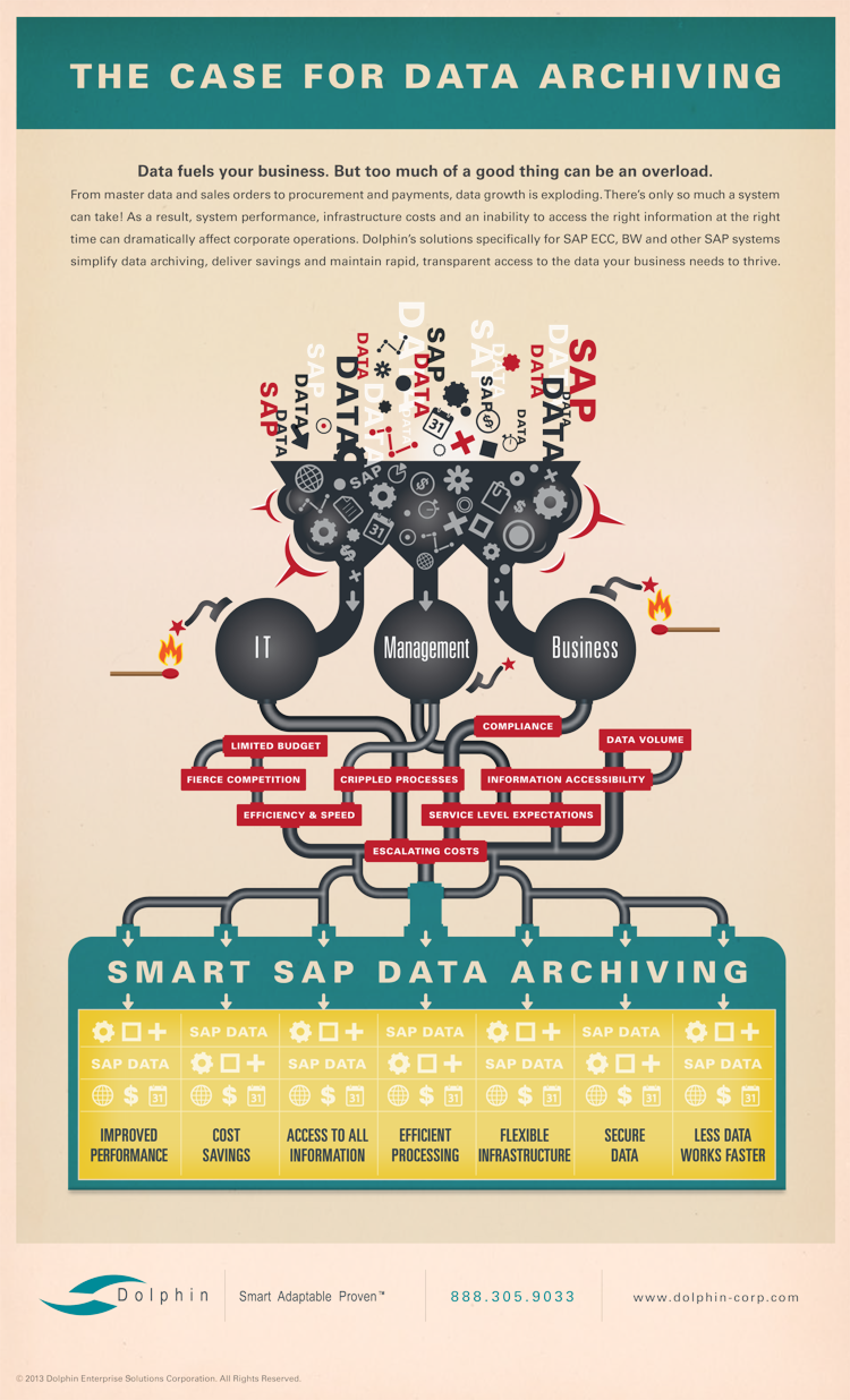 The Business Case for Data Archiving Infographic