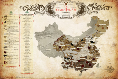 The Chinese Herb Map Infographic
