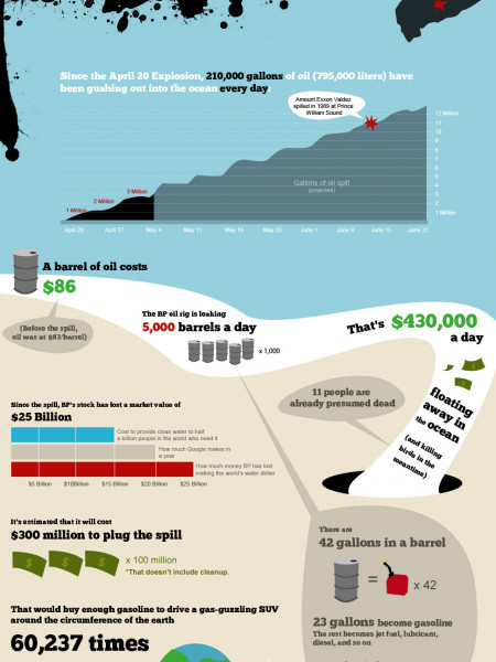 The Cost and Effects of the Oil Spill  Infographic