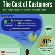 The Cost of Customers Infographic
