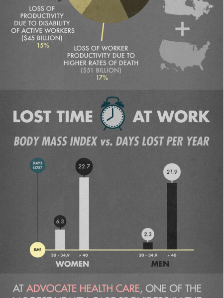 The Cost of Obesity in America  Infographic