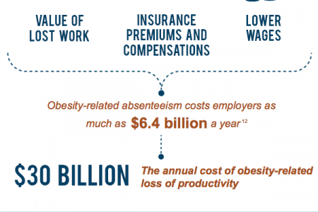 The Cost of Obesity Infographic