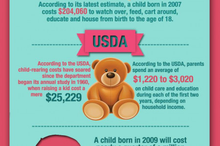 The Cost of Raising a Baby Infographic