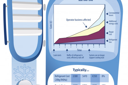 The cost of refrigerant leakage - Fridgehub Infographic Infographic