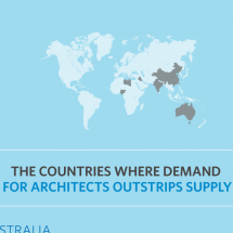 The Countries Where Demand for Architects Outstrips Supply Infographic