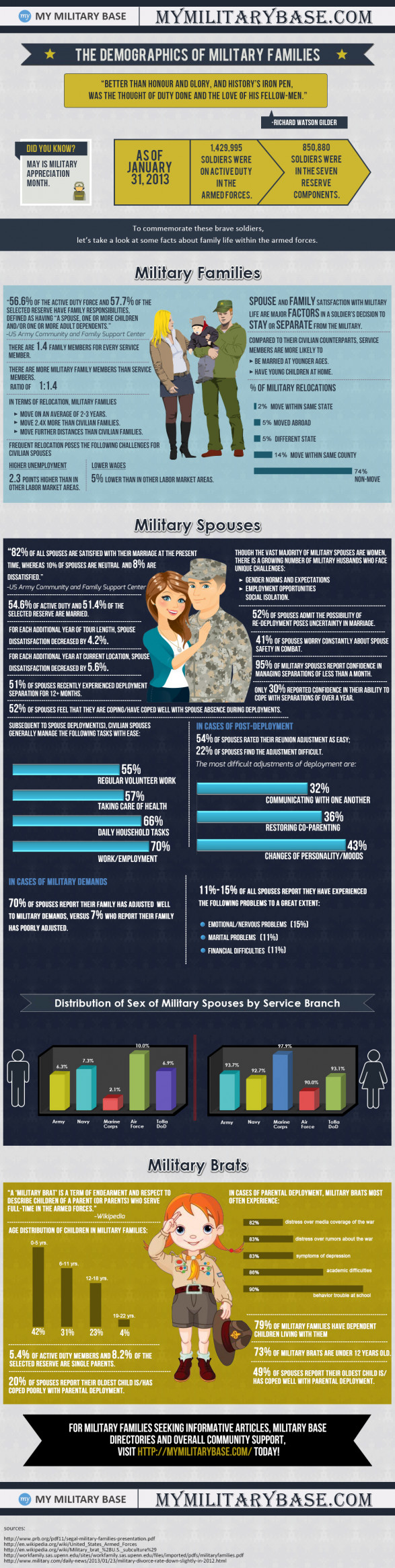 The Demographics of Military Families