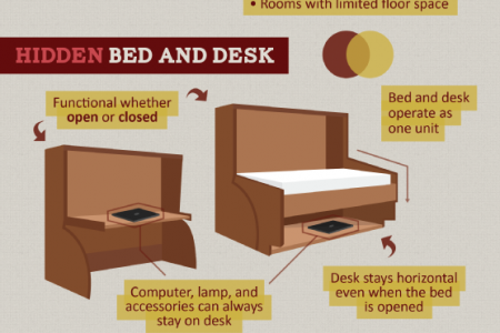 The Differences between Hidden Wallbeds and Mobile Wallbeds Infographic