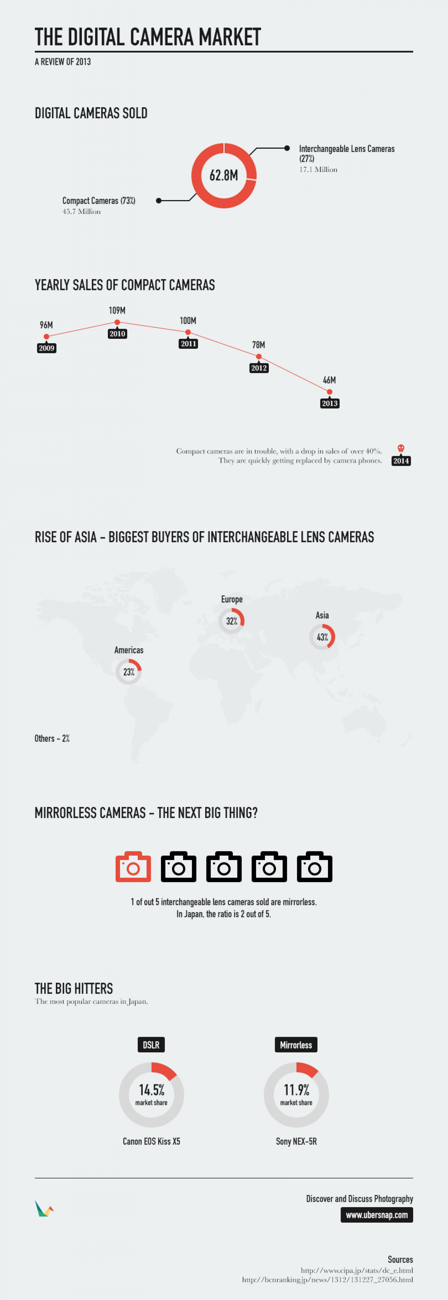 The Digital Camera Market in 2013 Infographic