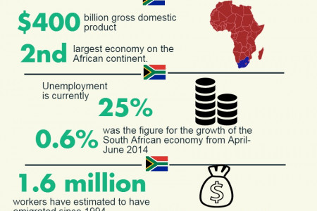 The Economy of South Africa  Infographic
