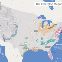 The Emerging Megaregions  Infographic