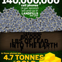 The Environmental Impact Of Cell Phones Infographic