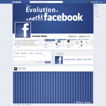 The Evolution of Facebook Infographic