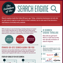 The Evolution of the Search Engine Infographic