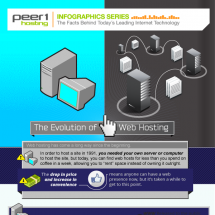The Evolution of Web Hosing Infographic