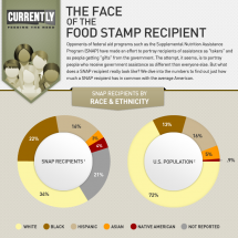 The Face of the Food Stamp Recipient Infographic