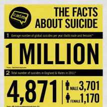 The Facts About Suicide Infographic