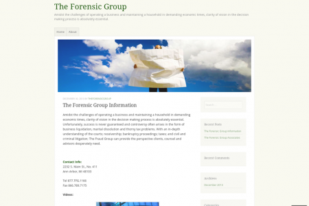 The Fraud Group Contact Information Infographic