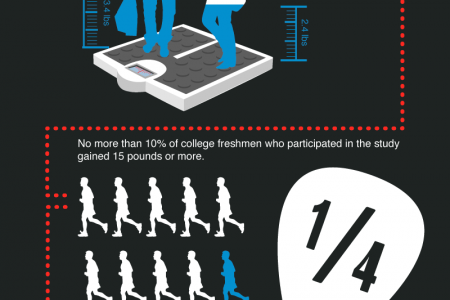 The Freshman 15 Myth Infographic