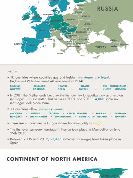 The Gay Marriage World Map Infographic