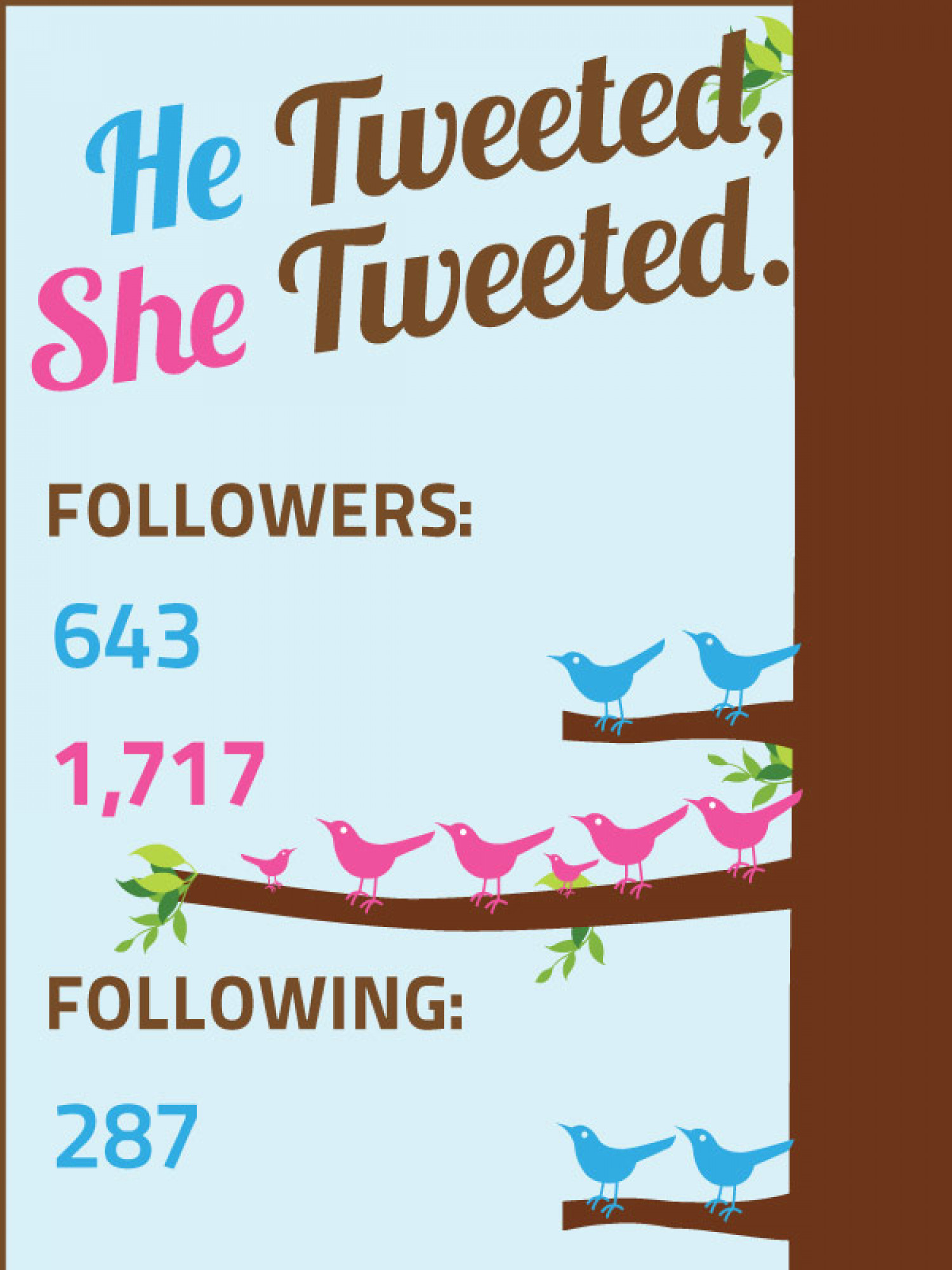 The Gender Differences On Twitter In Data Infographic