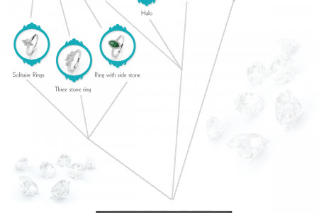 The Glamorous World of Diamond Jewellery Infographic