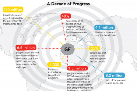 The Global Fund: Then and Now Infographic