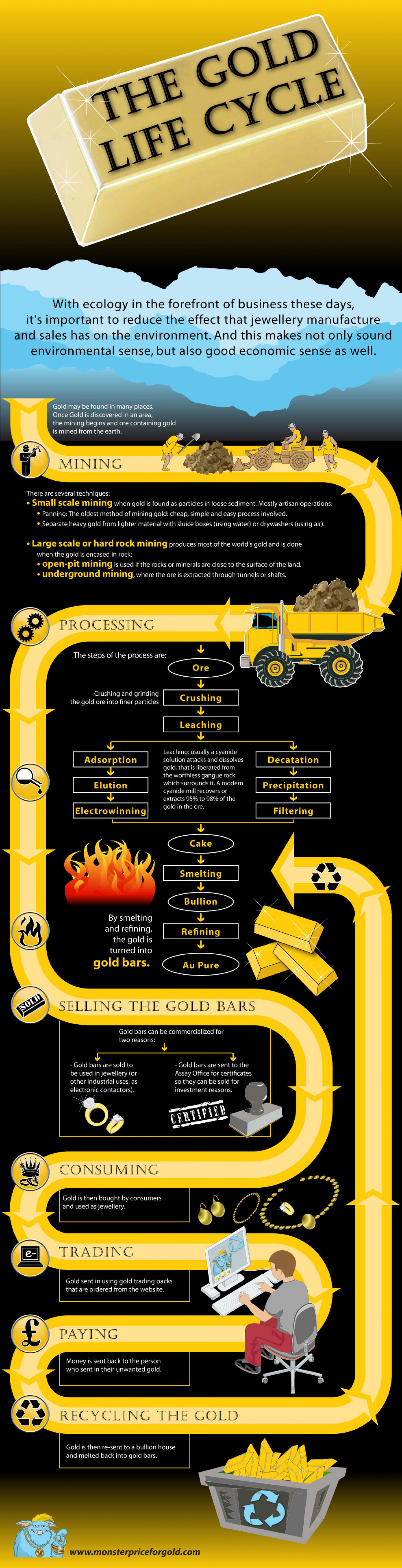 The Gold Life Cycle Infographic