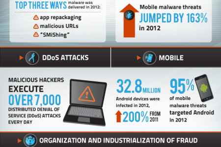 The Growing Threats of Cyber Crime Infographic