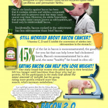 The Health Benefits of Bacon Infographic