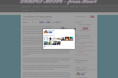 The History of Heavy Metal Infographic