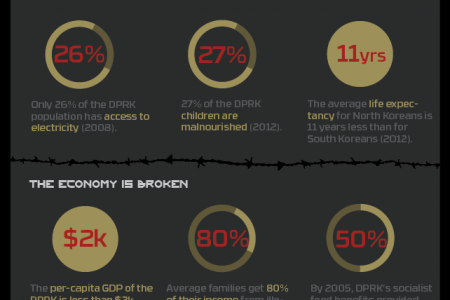 The Hypocrisy of North Korea Infographic