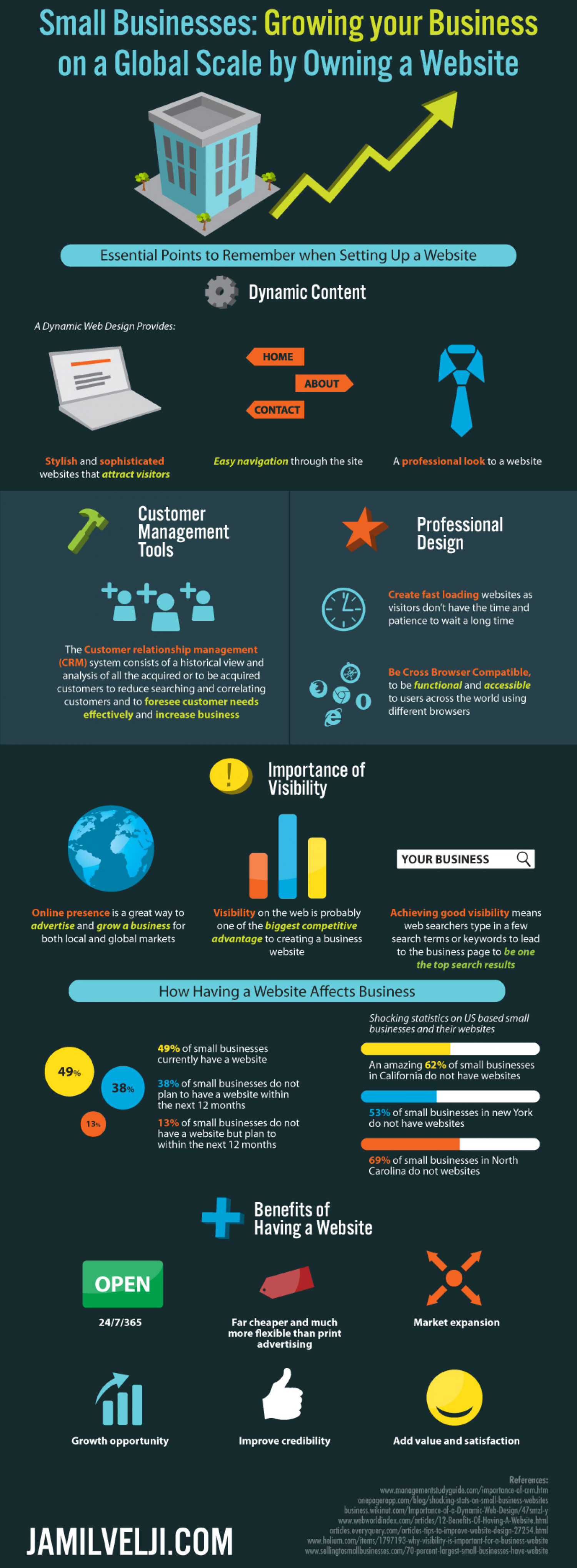 The Importance of A Website To Small Businesses Infographic