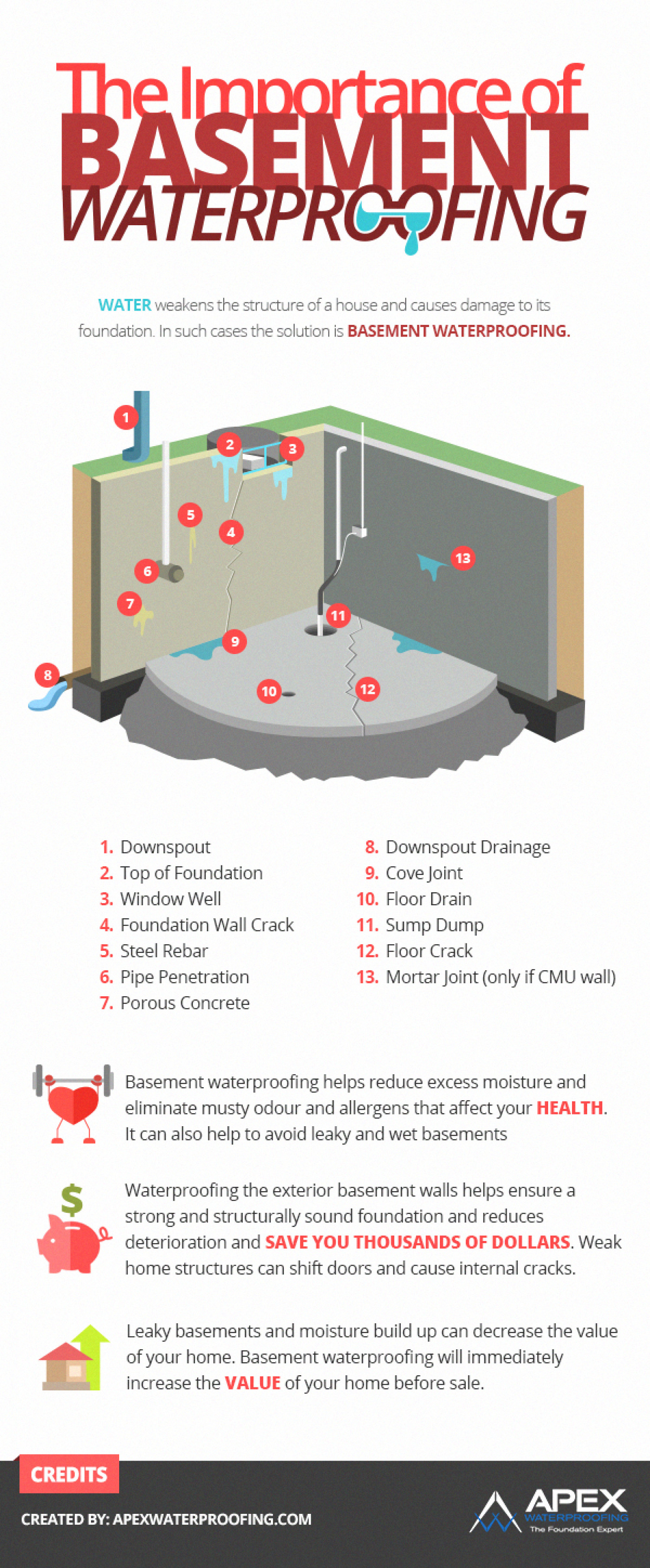 The Importance of Basement Waterproofing Infographic