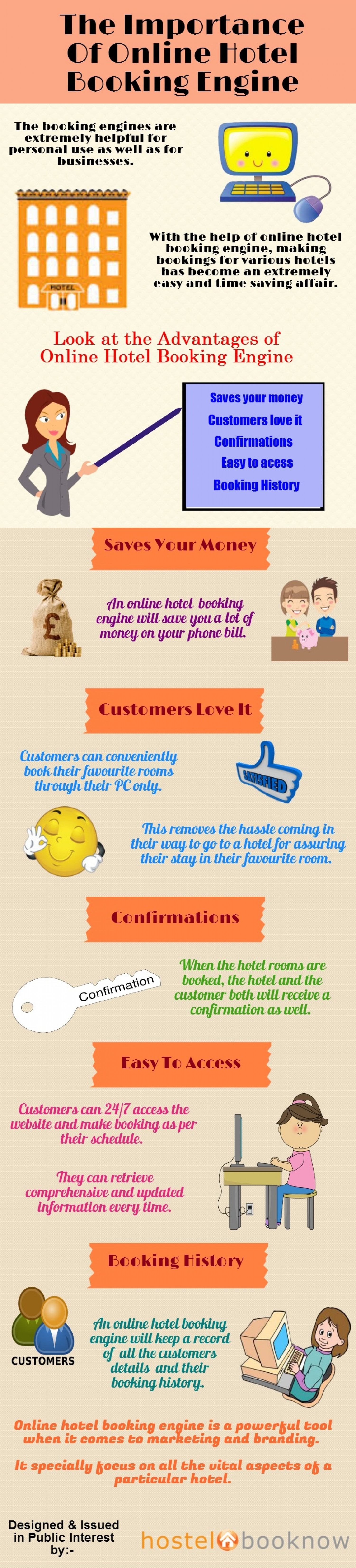 The Importance of Online Hotel Booking Engine Infographic