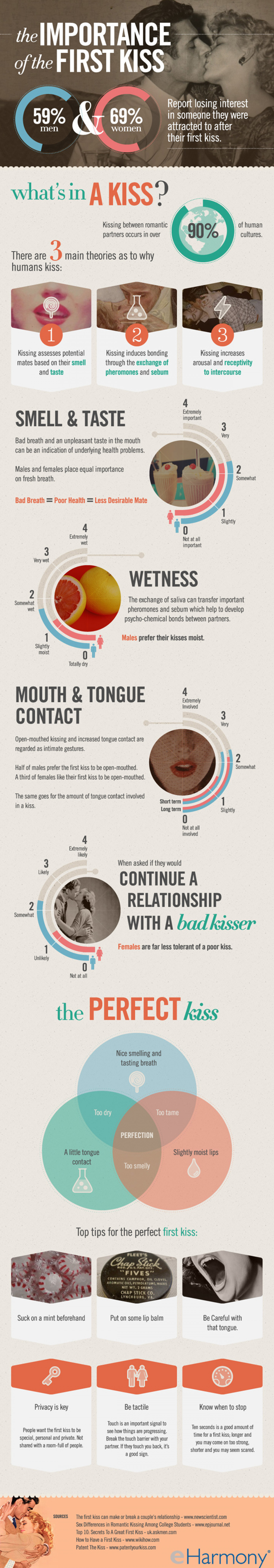 The Importance of the First Kiss Infographic