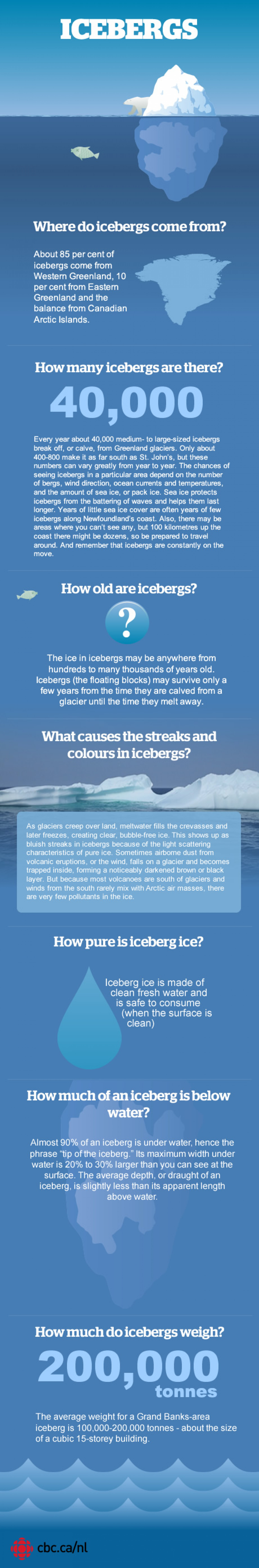 The inside story of an iceberg Infographic