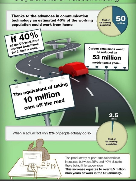 The Internet and the Environment Infographic