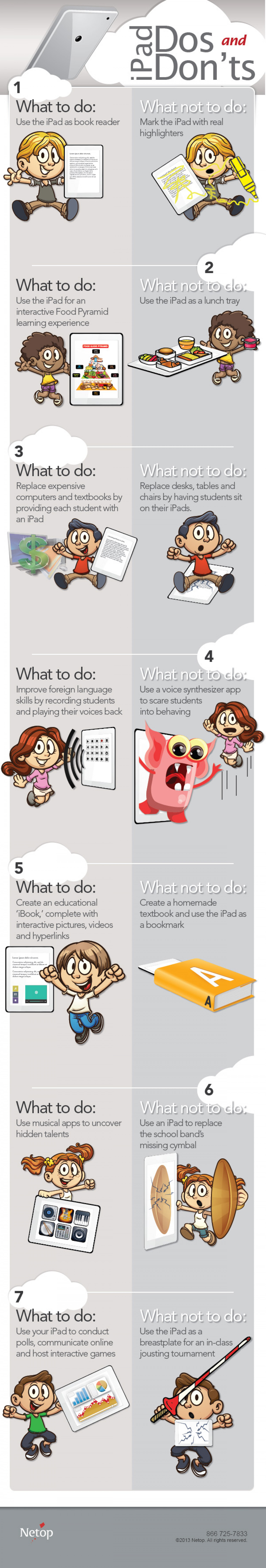 The iPad in Your Classroom: Dos and Don'ts Infographic
