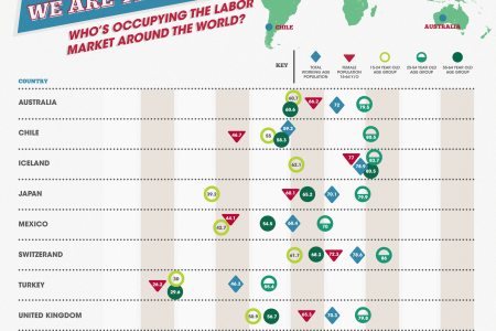 The Labor Force around the World Infographic