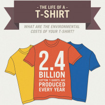 The Life of a T-Shirt Infographic